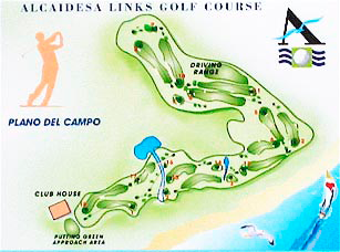 alcaidesa links map